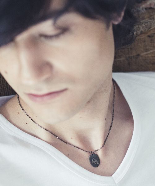 Genri/ゲンリ/MADE IN JAPAN/日本製/ 【OUTSIDE】 MEDAL&ONYX  NECKLACE