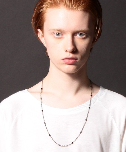Genri/ゲンリ/MADE IN JAPAN/日本製/【spitz】/CHAIN×STONE LONG NECKLACE