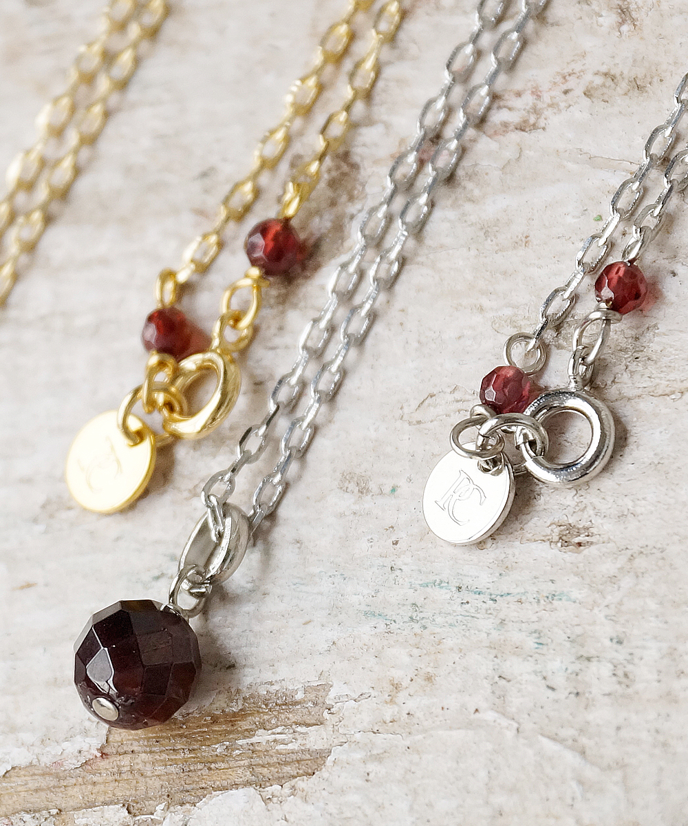 PIECE OF CHORD/ピースオブコード/GARNET NECKLACE