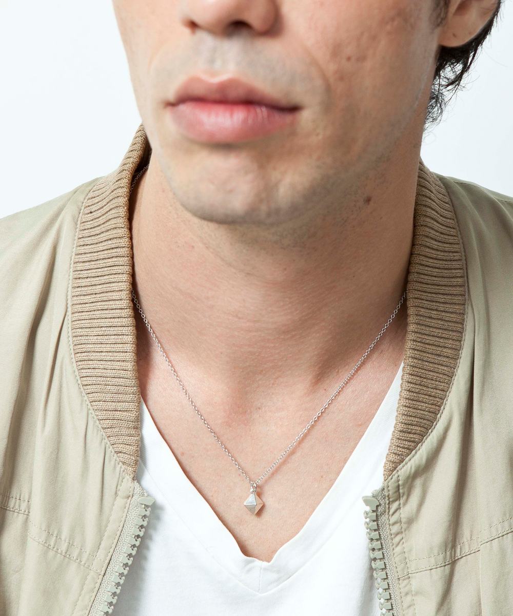 PIECE OF CHORD/ピースオブコード/SILVER SQUARE STUDS NECKLACE