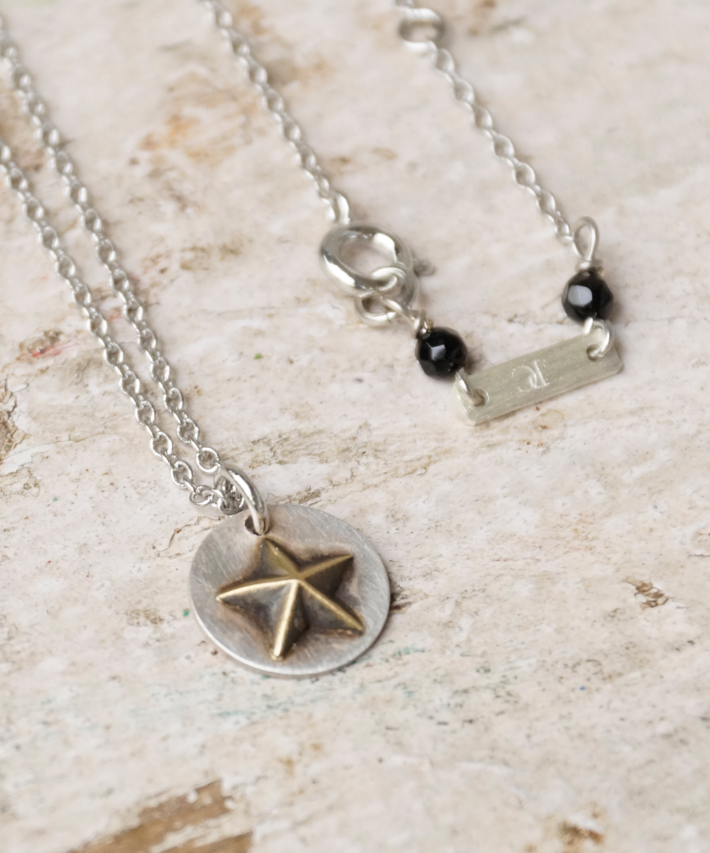 PIECE OF CHORD/ピースオブコード/SILVER×BRASS NECKLACE STAR