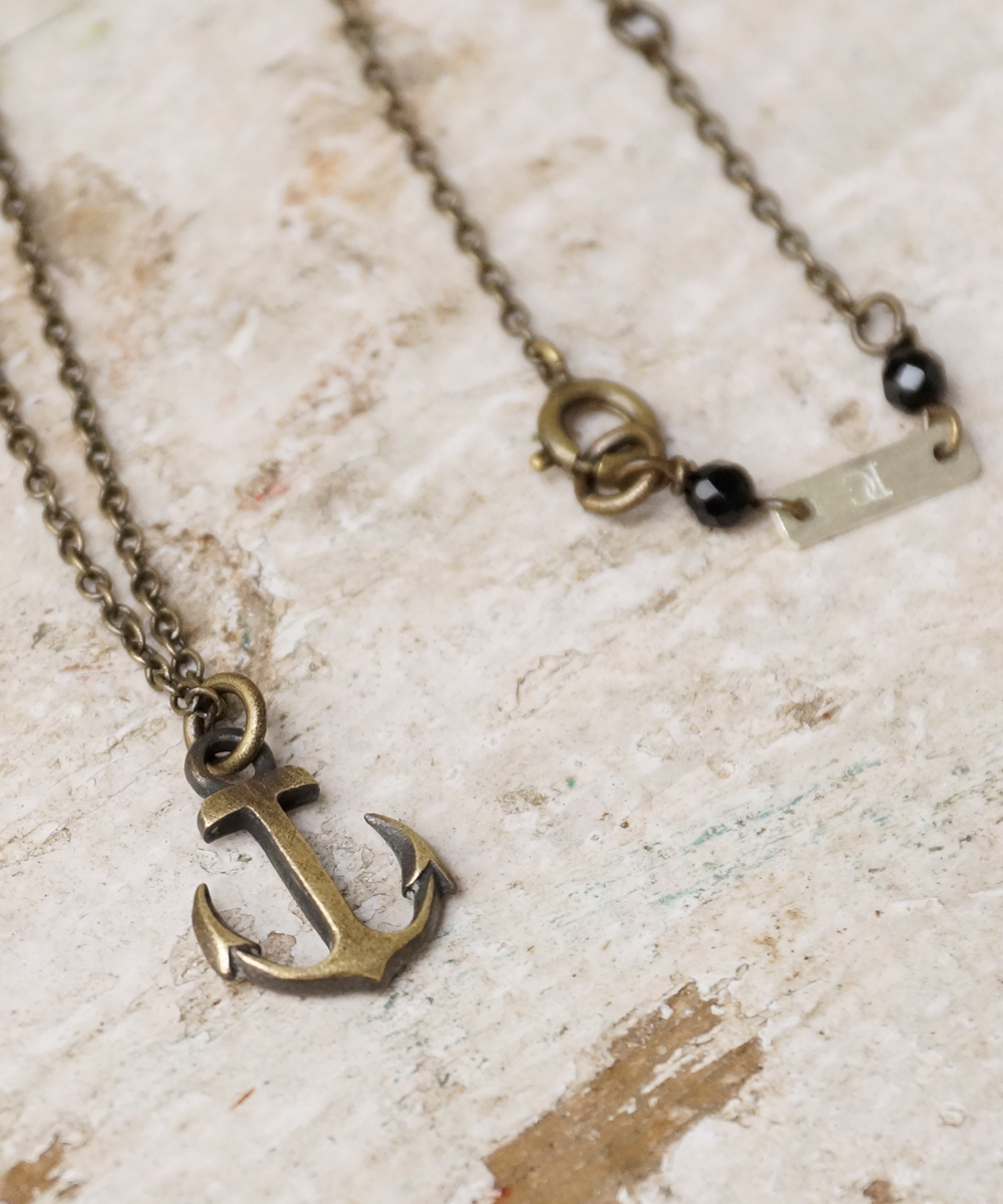 PIECE OF CHORD/ピースオブコード/ANTIQUE BRASS ANCHOR NECKLACE