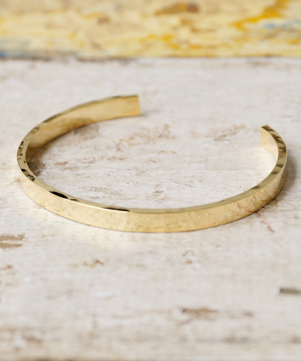 PIECE OF CHORD/ピースオブコード/SIDE HAMMERED BANGLE 5mm
