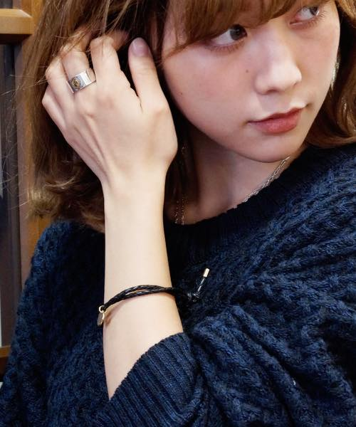 PIECE OF CHORD/ピースオブコード/EAGLE METAL LEATHER BRACELET